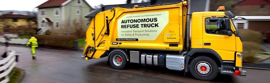 Volvo начала испытания беспилотного мусоровоза