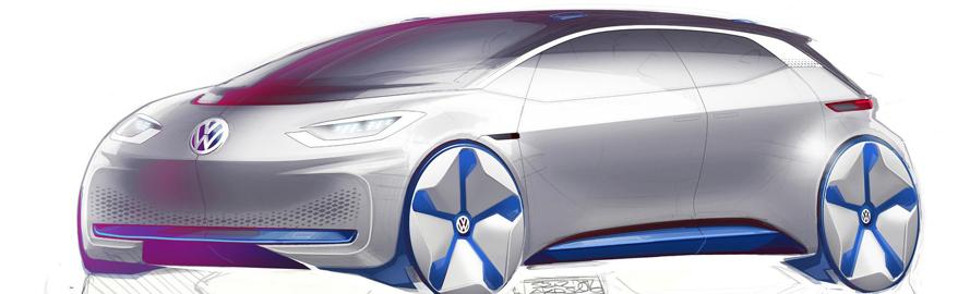 Электрокар Volkswagen нового поколения: первые рисунки